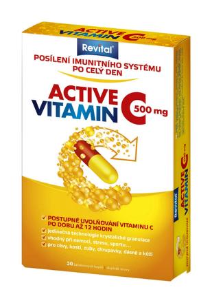 Revital Active vitamín C 500mg s postupným uvoľňovaním  30tbl