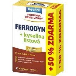 Revital Premium Ferrodyn+k.listová tbl.40+20zdarma