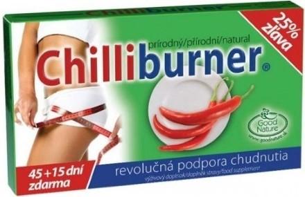 Chilliburner podpora chudnutia 45 + 15 tabliet zadarmo