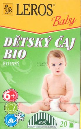 LEROS BABY BIO Detský čaj bylinný n.s.20x2g