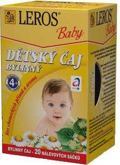 LEROS BABY Detský čaj bylinný n.s.20x1.8g