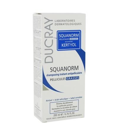 DUCRAY Squanorm šampón proti mastným lupinám 200 ml