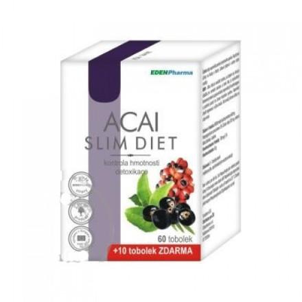 Edenpharma Acai slim diet 60+10 kapsúl zadarmo