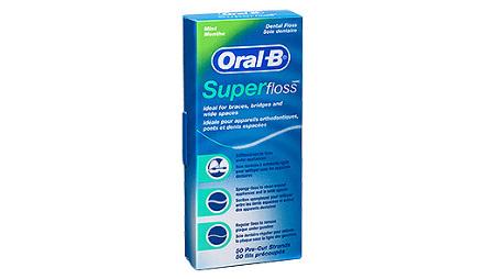 Oral-B dentálna niť SuperFloss 50m - nastrihané pásky