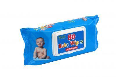Obrúsky detské hygienické Baby Wipes Aloe Vera 80 ks