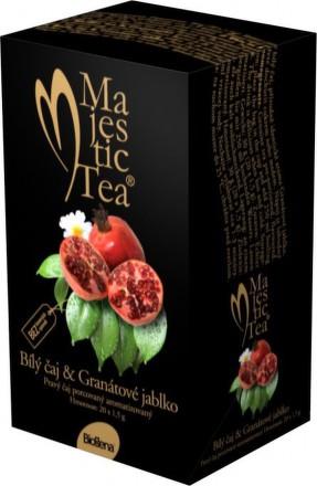 Čaj Majestic Tea Biely čaj+Granát.jabl. n.s.20x1.5g