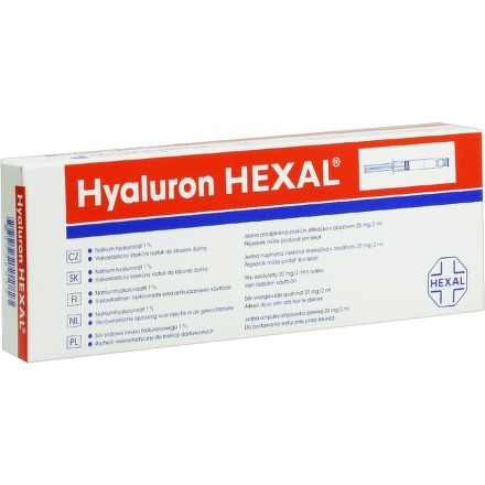 Sandoz HYALURON HEXAL 1X2ML/20MG