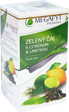 Megafyt Zelený čaj s citrónom a limetkou 20x1.5g
