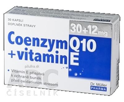 Dr.Müller Coenzym Q10 30mg + vitamín E 12mg 30cps