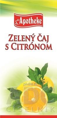 Apotheke čaj Selection Zelený s citrónom 20X2 g