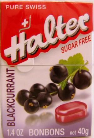 HALTER Čierne ríbezle cukríky bez cukru 40 g