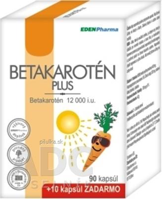 EDENPharma Betakarotén Plus 90 + 10 cps