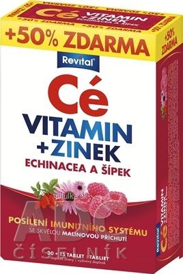 REVITAL C Vitamín+ Zinok+Echinacea a šípka