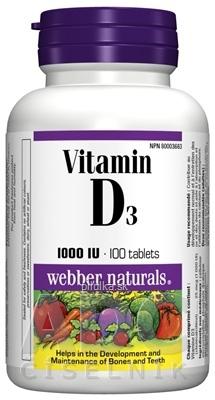 Webber Naturals Vitamín D3 1000 IU