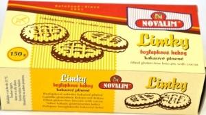 LIMKY-bezlepkové kakaové keksy plnené