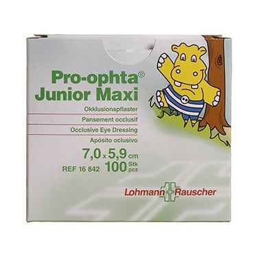 Pro-ophta Junior Maxi okluzor 7.0x5.9cm 100ks