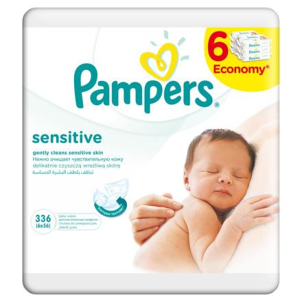 Pampers Wipes 6x56 ks Sensitive náplň
