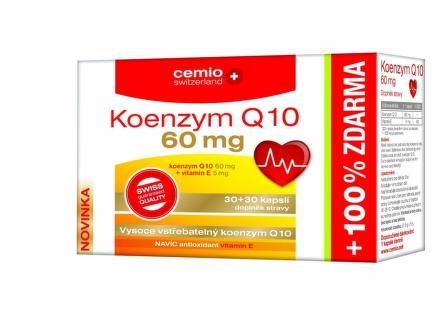 Cemio Koenzým Q10 s biotínom 60mg 60cps