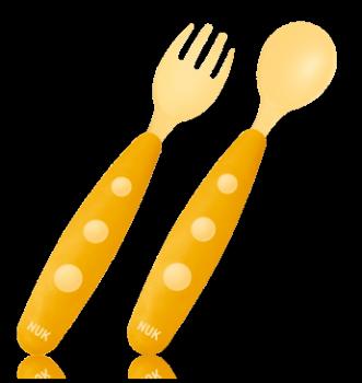 NUK Easy Learning detský príbor lyžica + vidlička