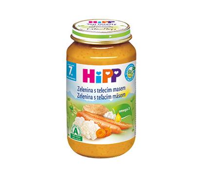 HiPP BIO Zelenina s teľacím mäsom 220g