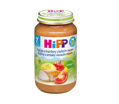 HiPP BIO Rajčiny a zemiaky s kuracím mäsom 220g