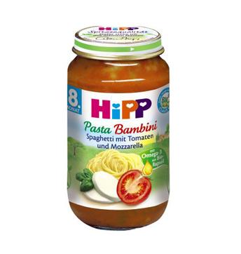 HiPP BIO Rajčiny so špagetami a mozzarelou 220g