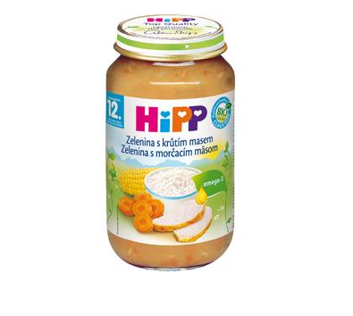 HiPP Zelenina s morčacím mäsom 220g