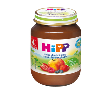 HiPP BIO Jablká s lesnými plodmi 125g