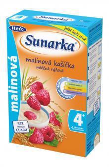 Sunarka Malinová kašička mliečna ryžová 225g