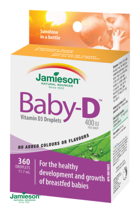 Jamieson Baby-D™ Vitamín D3 400 IU kvapky 11,7ml