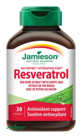Jamieson Resveratrol 50 mg extrakt z červeného vína 30cps