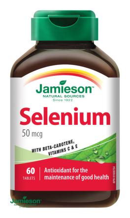 Jamieson Selén 50 µg s betakaroténom a vitamínmi C a E 60tbl