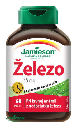 Jamieson Železo 35 mg s postupným uvoľňovaním 60tbl