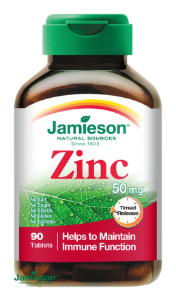 Jamieson Zinok 50 mg s postupným uvoľňovaním 90tbl