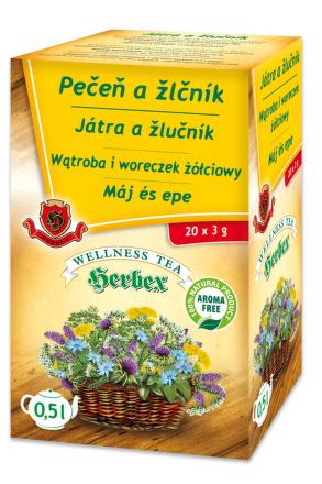 HERBEX Pečeň a žlčník 20x3 g