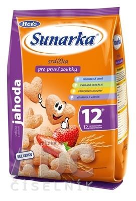 Sunarka detský snack jahodové srdiečka 50g