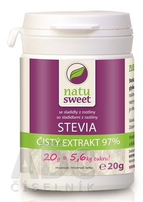 Natusweet stevia čistý extrakt 97% 20g