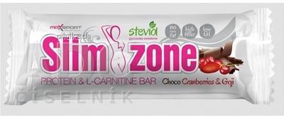 MaxSport Slim Zone Choco Cranberry Goji tyčinka 40g