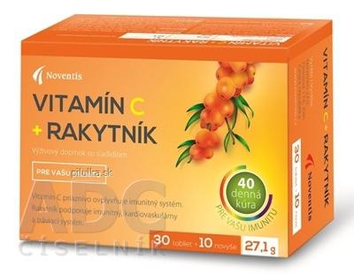 Vitamín C+rakytník 40 ks