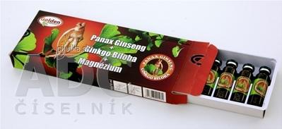 Golden panax ginseng+ginkdo biloba + horčík