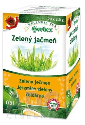 Herbex čaj zelený jačmeň porc. 20x2,5g
