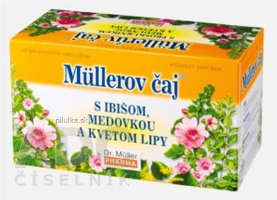 Dr.Muller čaj ibiš, medovka, kvet lipy 20x1,5g