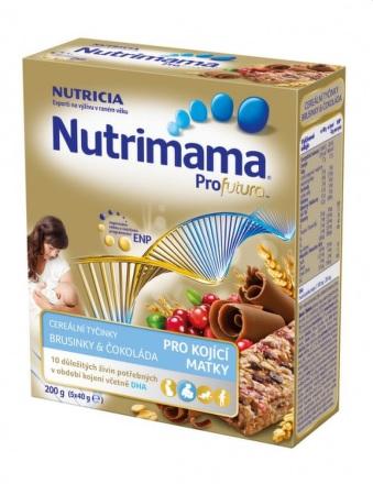 Nutrimama Profutura cereálne tyčinky brusnica, čokoláda 5x40 g