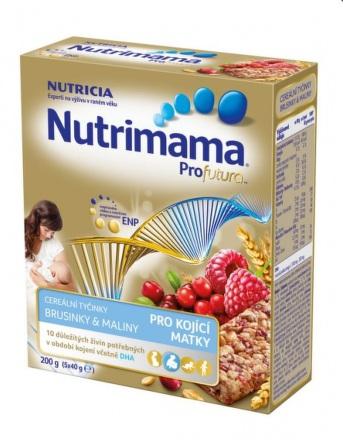 Nutrimama Profutura cereálne tyčinky brusnica, malina 5x40 g
