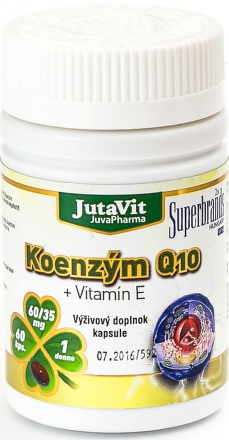 JutaVit Koenzým Q10 + Vitamín E cps 1x60 ks