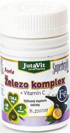 JutaVit Železo + Vitamín C komplex tbl 1x40 ks