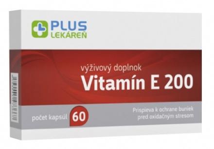 PLUS LEKÁREŇ Vitamín E 200 60 cps