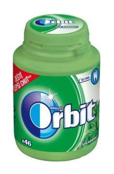 ORBIT Žuvačky Spearmint - dóza 46 kusov