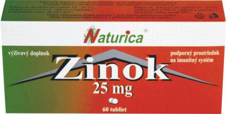 NATURICA Zinok 25mg 60 tabliet