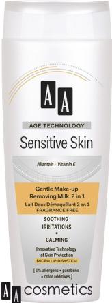 AA Sens.Skin Mlieko upokojujúce, čistiace 200ml
